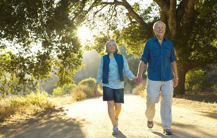 Golden Years Breaks couple walking